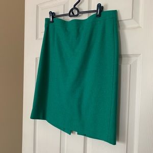 JCrew Wool Green Pencil Skirt